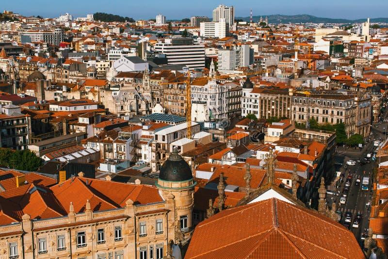 Vue de s-oeil de ` d'oiseau de Porto, Portugal nature photo stock