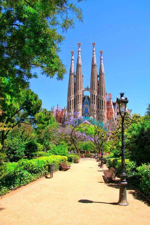 Vue de Sagrada Familia Barcelone, Espagne image libre de droits