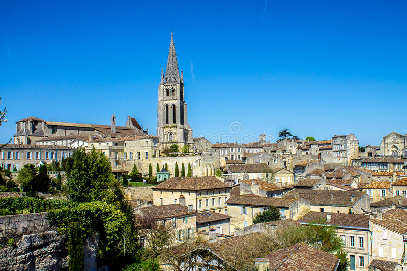 Vue de Saint Emilion, Bordeaux, France photos stock