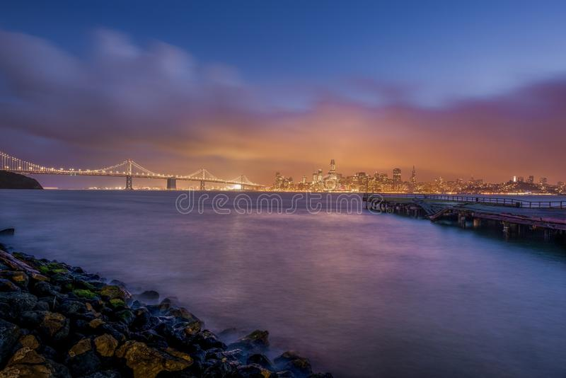 Vue de San Francisco Bay d'île de trésor photo stock