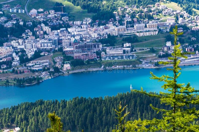 Vue de Sankt Moritz d'en haut images stock