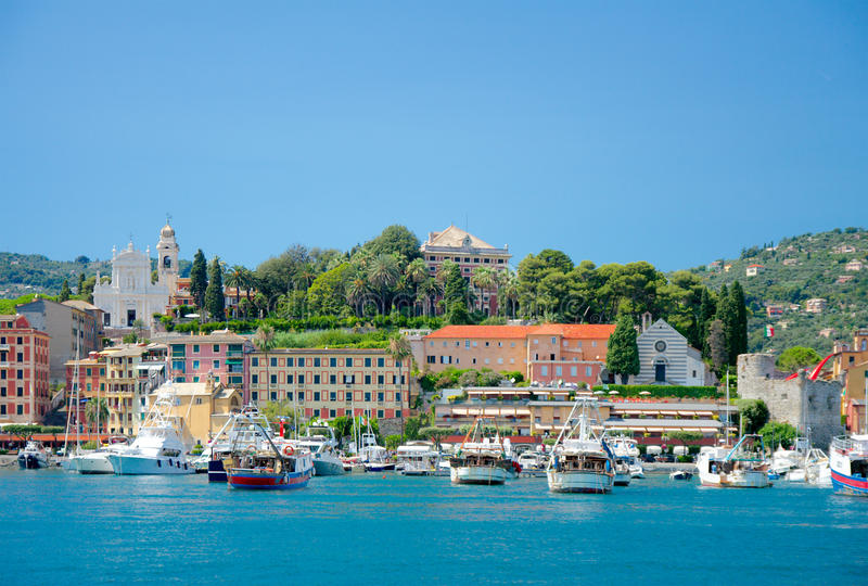 Vue de Santa Margherita Ligure, Italie images stock