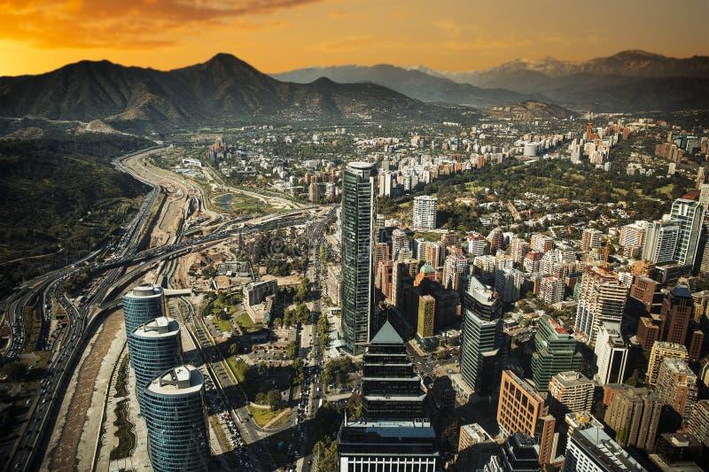 Vue de Santiago images stock