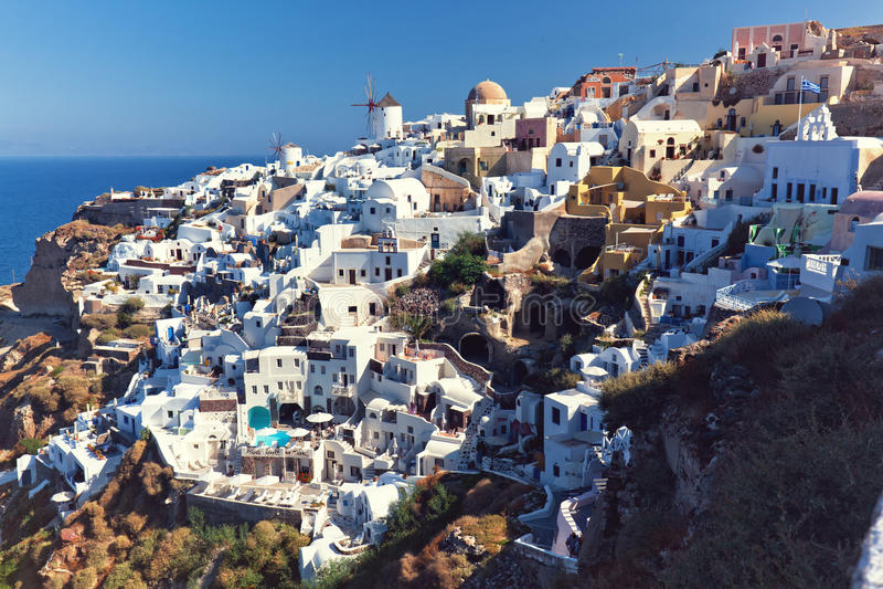 Download Vue de santorini d'Oai photo stock. Image du grec, tourisme - 56475264