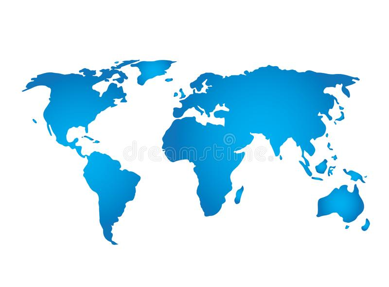 Vue de satillite de carte de planète pour le vecteur de conception de logo, icône de globe, symbole de la terre illustration stock