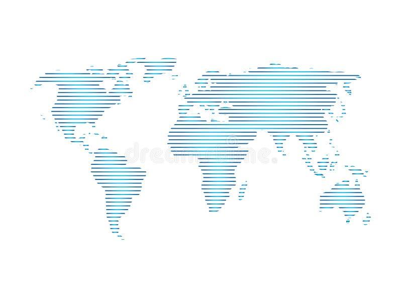 Vue de satillite de carte de plan?te pour le vecteur de conception de logo, ic?ne de globe, symbole de la terre illustration libre de droits