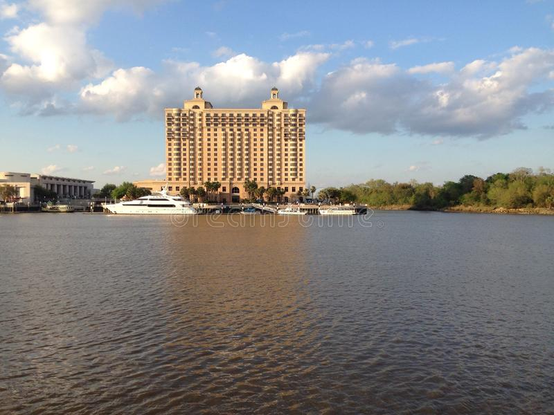 Vue de Savannah River image stock