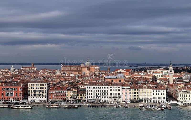 Vue de secteur de Castello du haut du belltower de l'?glise de San Giorgio Maggiore ? Venise photo stock