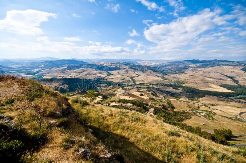 Vue de Sicile Enna Agira northward_1 image stock