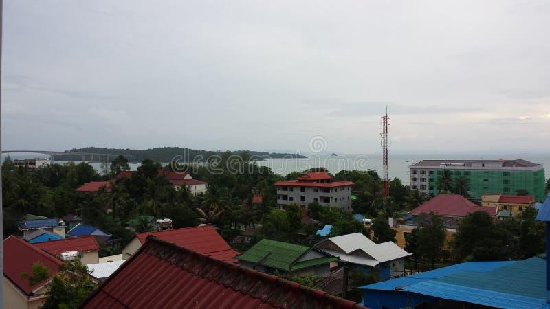 Vue de Sihanoukville photos libres de droits