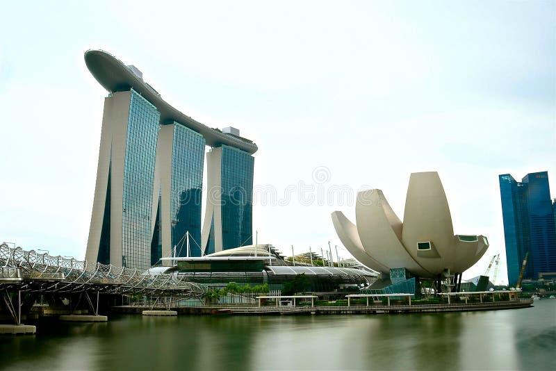 Vue de Singapour de l'esplanade photo libre de droits