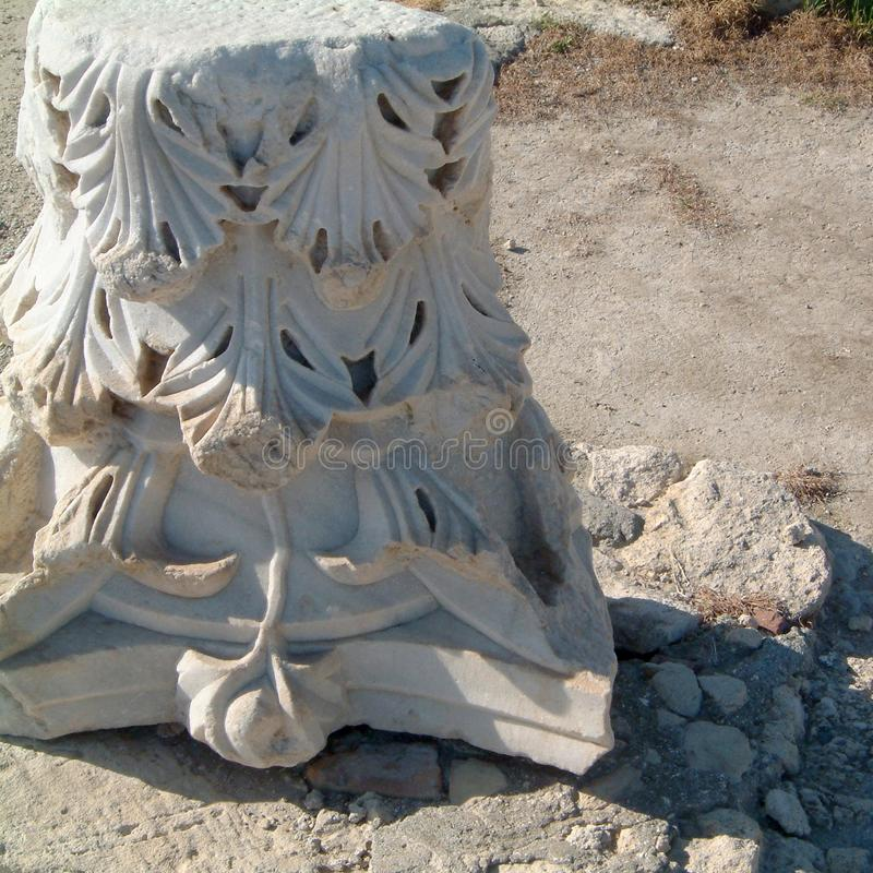 Vue de site archéologique de Kourio photographie stock