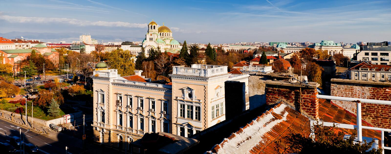 Vue de Sofia, Bulgarie images stock