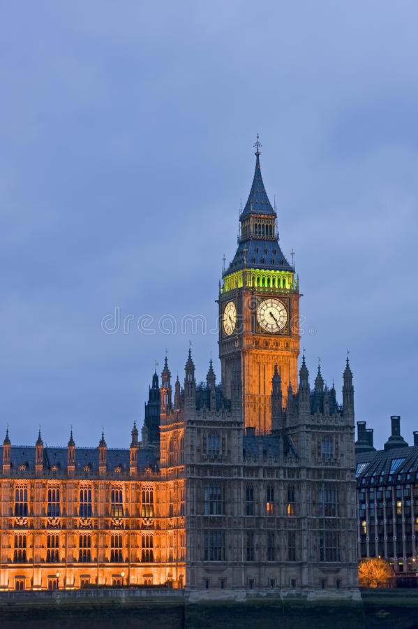 Vue de soirée de grand Ben Londres photos stock