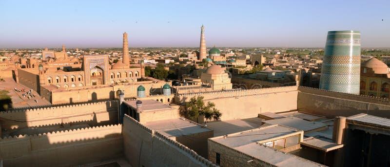 Vue de soirée de Khiva - Ouzbékistan images libres de droits