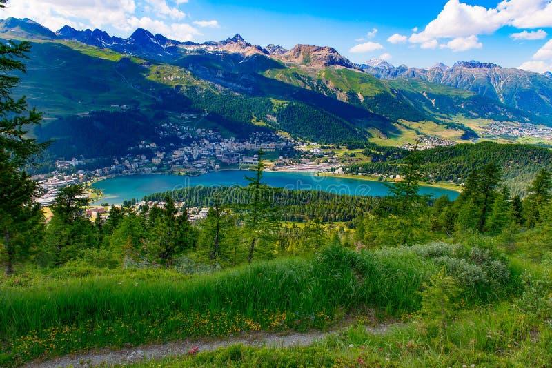 Vue de St Moritz photographie stock