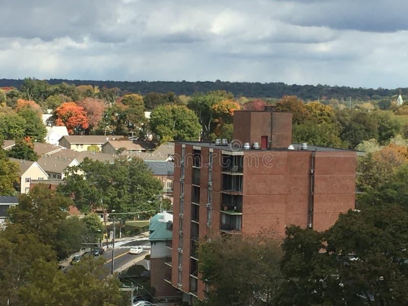 Vue de Stamford, le Connecticut images libres de droits