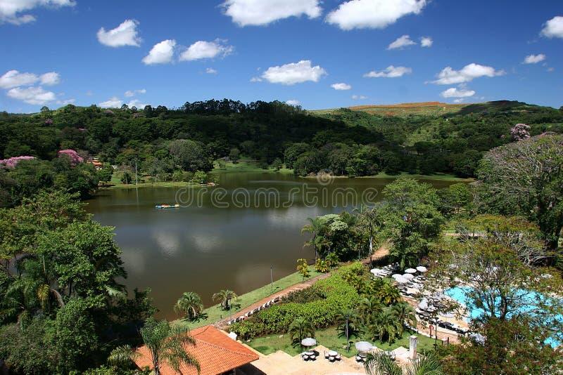 Station de vacances au Brésil photographie stock