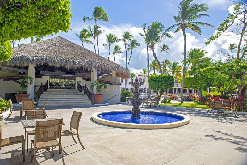 Vue de station de vacances tropicale dans Punta Cana, République Dominicaine  photo libre de droits