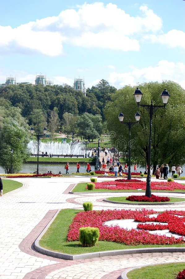 Vue de stationnement de Tsaritsyno, Moscou photo stock