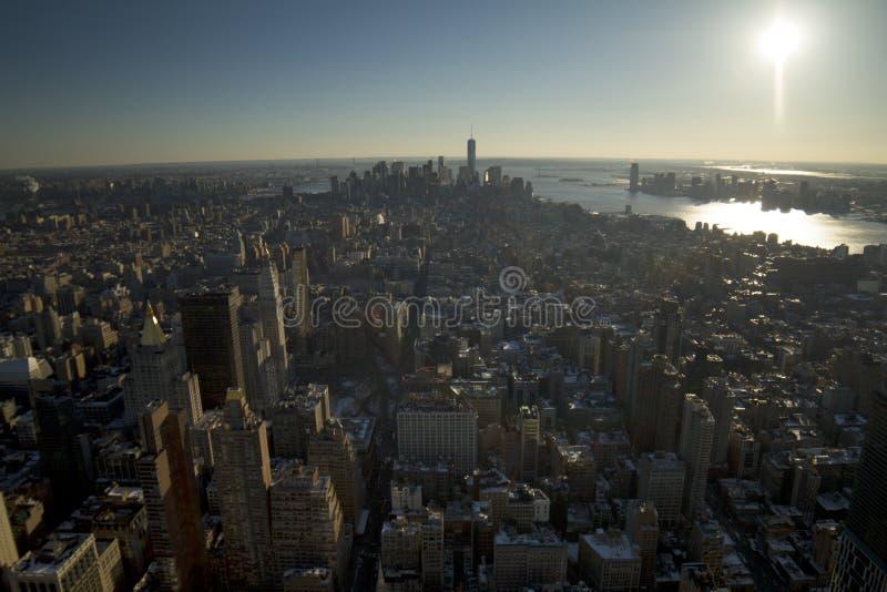 Vue de sud de New York City photographie stock
