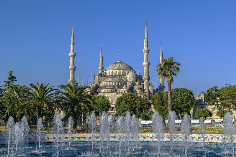 Vue de Sultan Ahmed Mosque, Istanbul photos libres de droits
