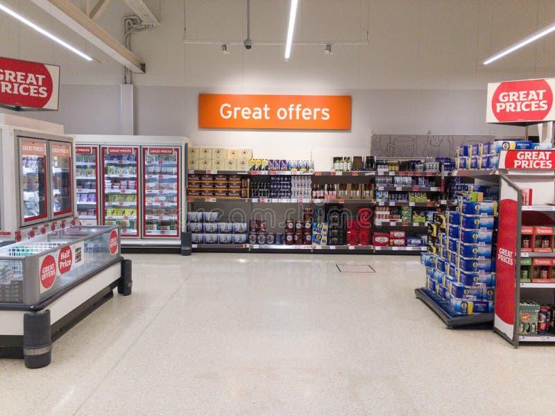 Vue de supermarché image libre de droits