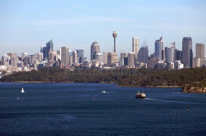 Vue de Sydney Australie avec l'horizon de ville, port photo libre de droits