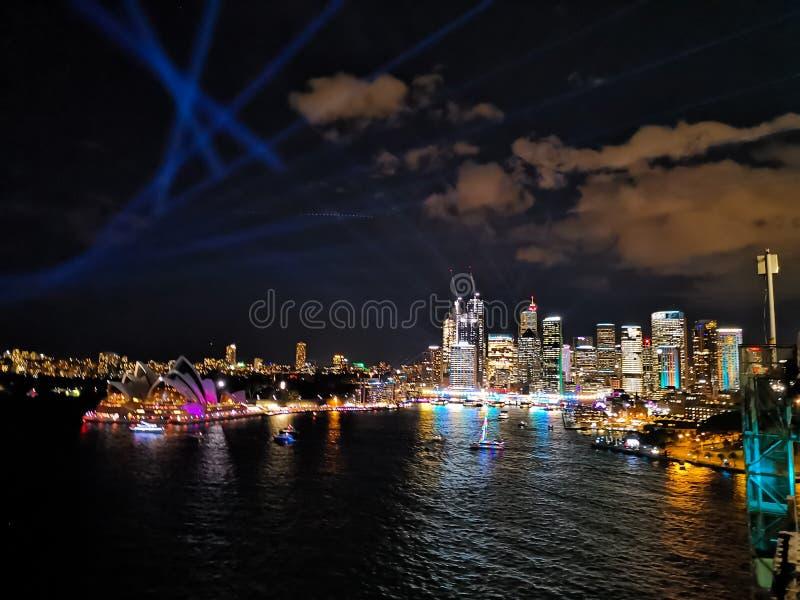 Vue de Sydney Vivid photos stock