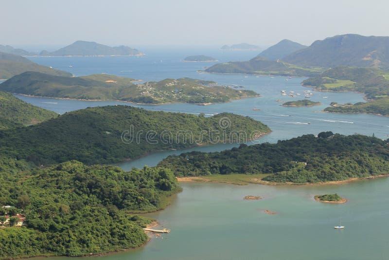 Vue de Tai Tun de kung Hong Kong de sai image stock