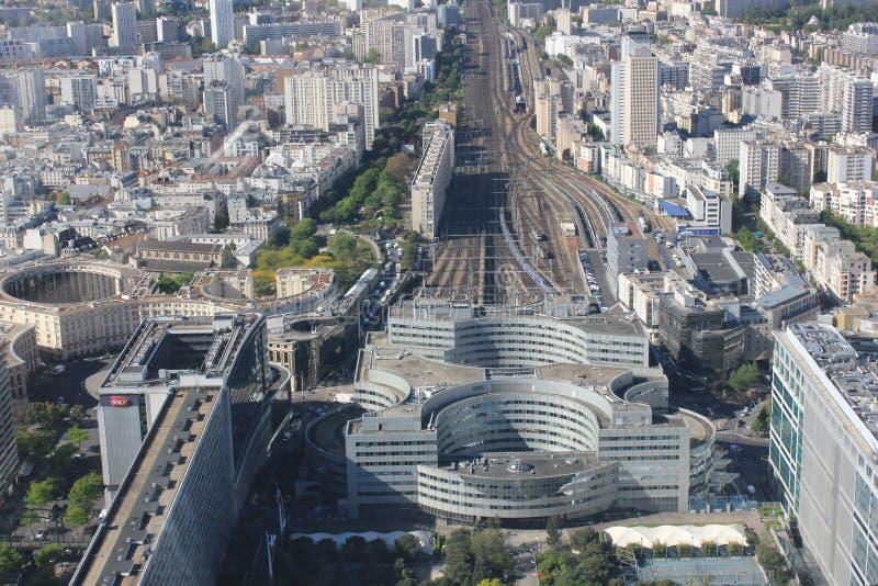 Vue de taille à Paris photographie stock libre de droits