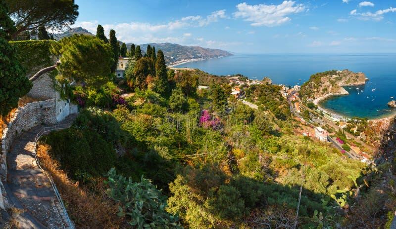 Vue de Taormina de, la Sicile photo libre de droits