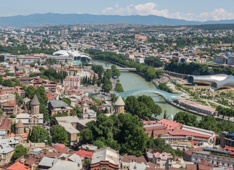 Vue de Tbilisi images libres de droits