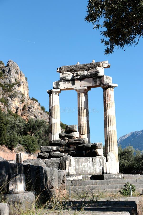 vue de temple d'Athena Pronea Delphi Greece photographie stock libre de droits
