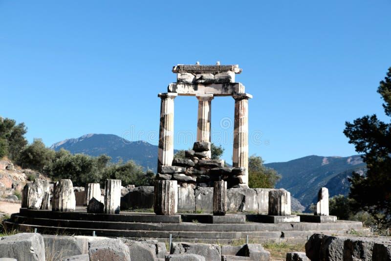 vue de temple d'Athena Pronea Delphi Greece photographie stock
