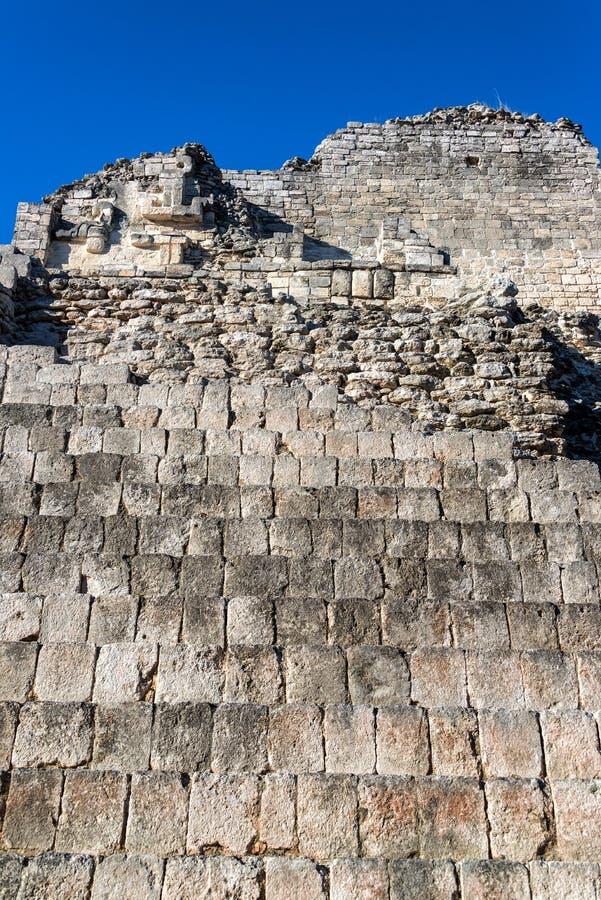 Vue de temple de Becan photo libre de droits
