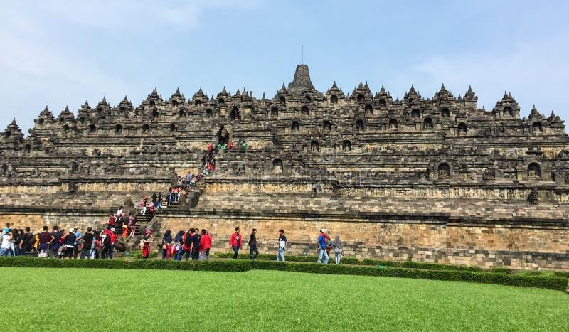 Vue de temple de Borobudur dans Jogja, Indonésie images libres de droits