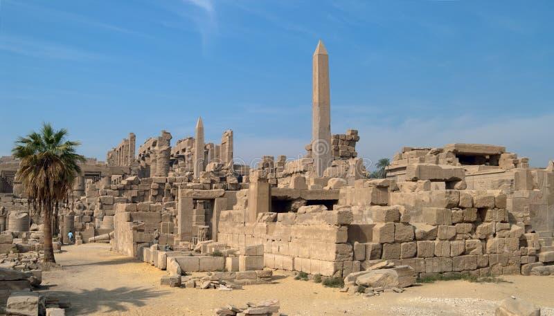 Vue de temple de Karnak, Luxor, Egypte photographie stock libre de droits