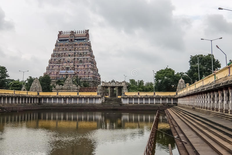 Vue de temple de Nataraja, Chidambaram, Inde photo stock