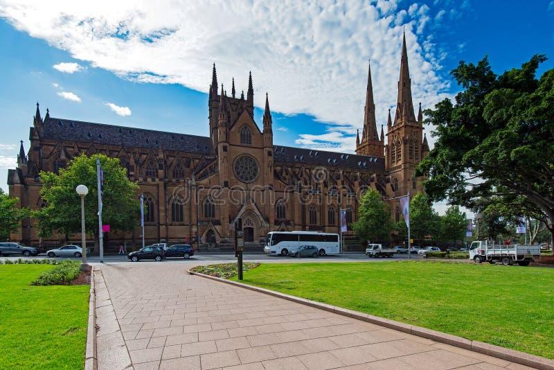 Vue de temps de jour de la cathédrale Sydney de St Mary image libre de droits