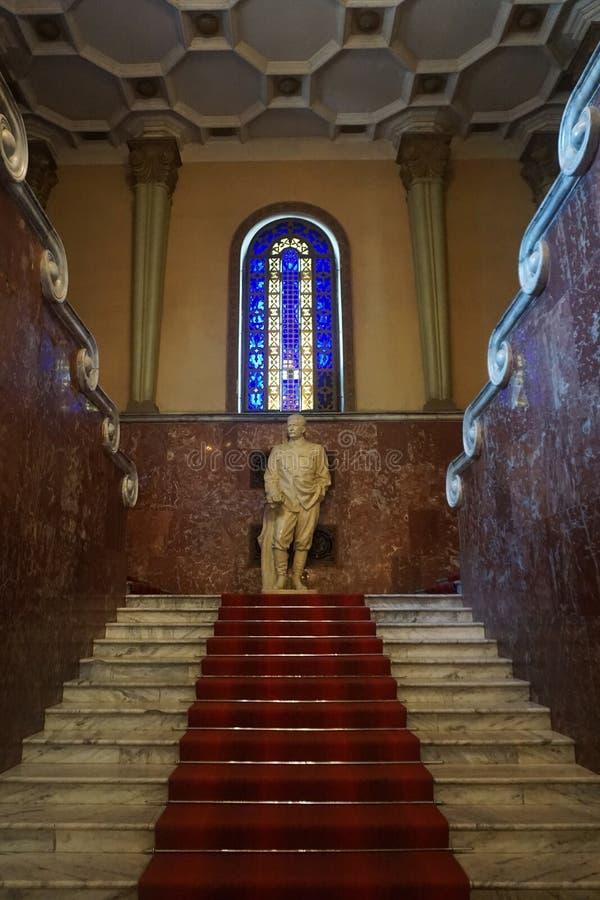 Vue de terrain communal de statue de Gori Stalin image libre de droits