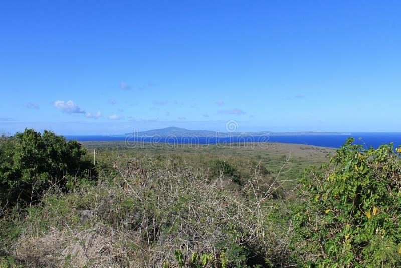 Vue de Tinian de lasso de bâti photo stock