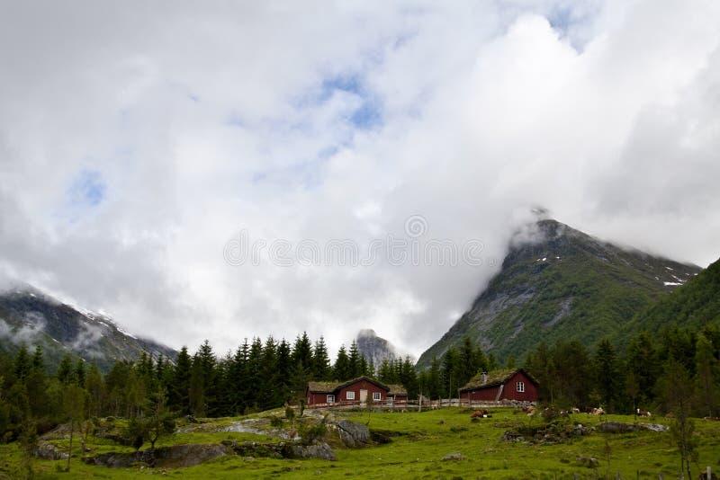 Vue de Tipical Norvège photo libre de droits