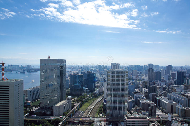 Vue de Tokyo de World Trade Center image stock