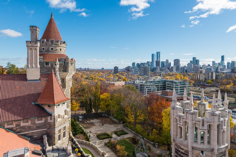 Vue de Toronto de la maison Loma image stock