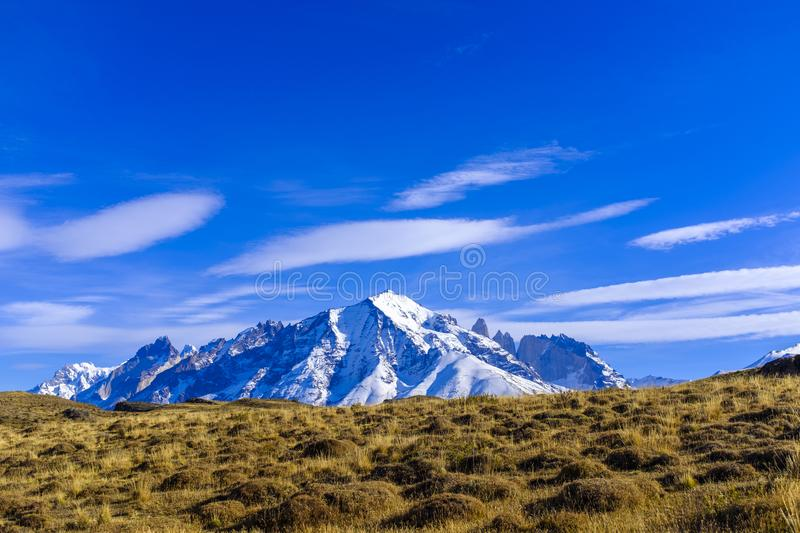 Vue de Torres del Paine photo stock