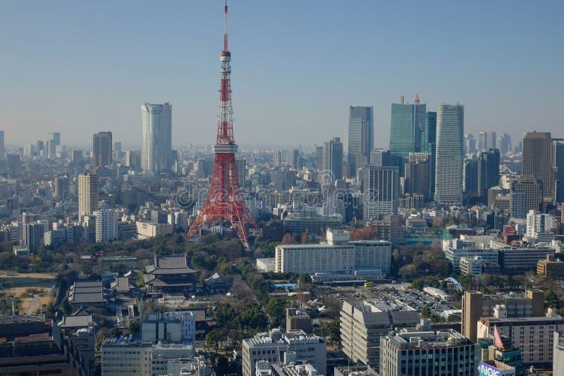 Vue de tour de ville de Tokyo image stock