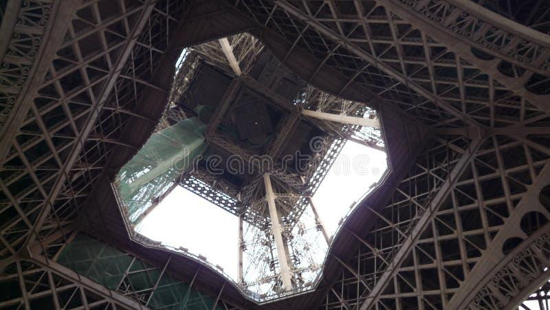 Vue de Tour Eiffel de dessous image libre de droits