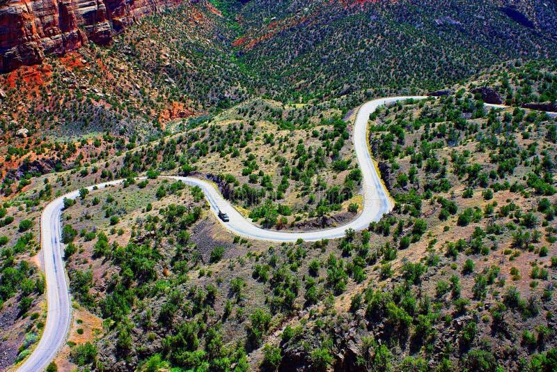 Vue de traînée du ` s de serpent de route photo stock