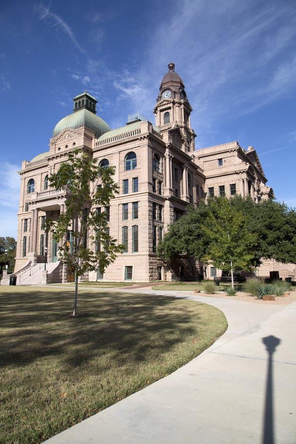 Vue de tribunal du comté de Tarrant de bâtiment historique photo stock